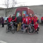 Partenza della bici staffetta partigiana da San Nazzaro